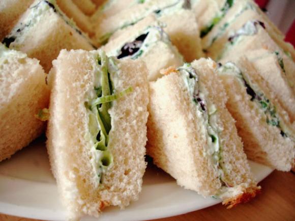 Cucumber-Mint Tea Sandwiches